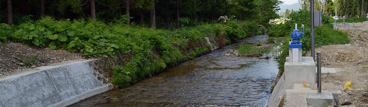 近江谷地小水力発電所